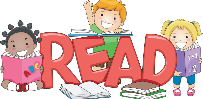 clip art of children reading