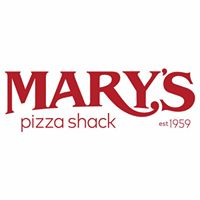 text of marys pizza shack logo