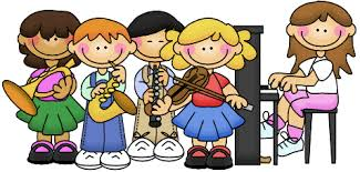 clip art of children playing music instruments