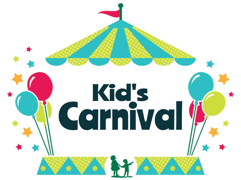 clip art of carnival tent with balloons